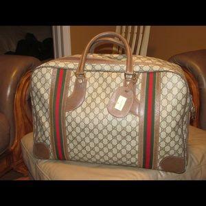 Vintage Gucci Supreme Weekender Bag # 010/525/1744